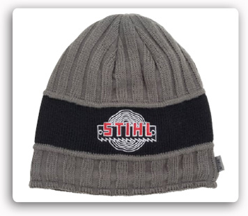 Charcoal Grey Textured Knit Cap Beanie Style