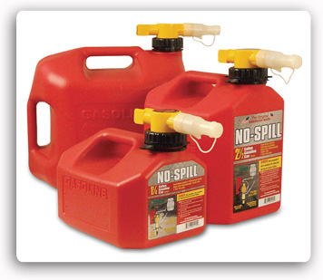 No-Spill Fuel Containers