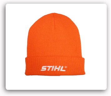 Orange with White STIHL Logo Stocking Cap