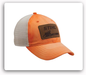 Orange Twill & Off White Mesh Cap